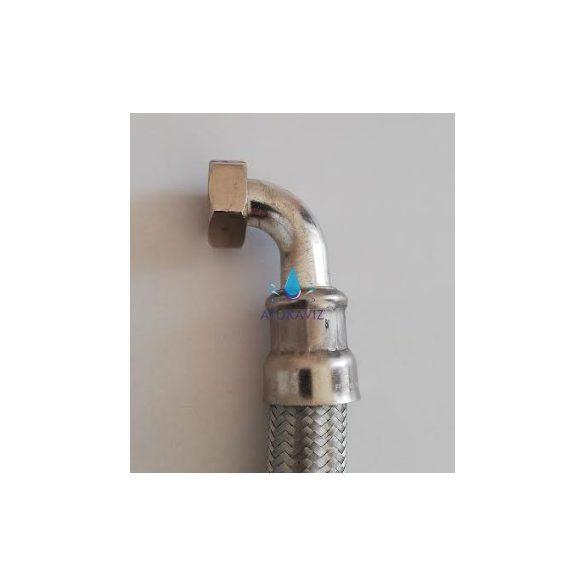 Flexibilis cső 800 mm könyökös 1 coll