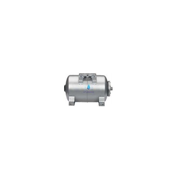 INOX(saválló) 100L fekvő hidrofor tartály