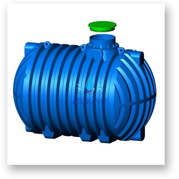 5000-literes esővíz gyűjtő
