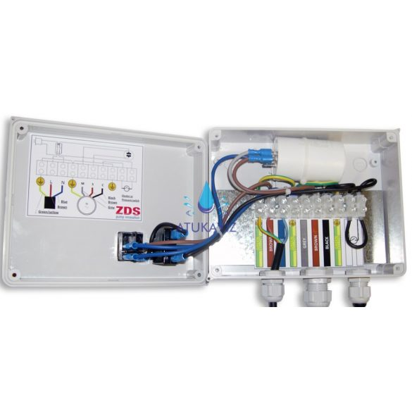 ZDS szivattyú indító doboz 0,75kW víz hűtésű (Franklin) motorokhoz
