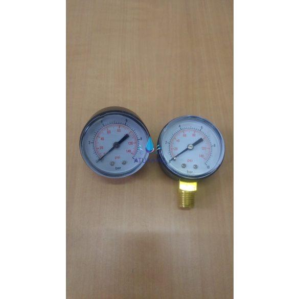 Nyomásmérő óra hátsó kiállású