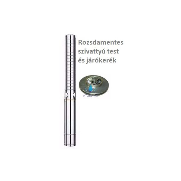 Rozsdamentes búvárszivattyú SP0518RM 10,2 bar