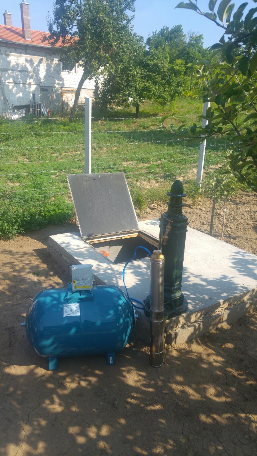 Házi vízmű bekötése fúrt kútra